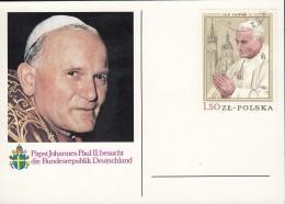 Polen 2629, Auf Bildgleicher Karte: Papst Johannes Paul II. 1979