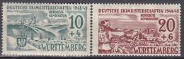 AllBes. FranzZone Württemberg 38 X -39 Y, Ungebraucht *, Dt. Skimeisterschaften 1949