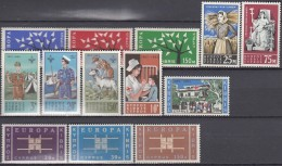 ZYPERN  Jahrgang 1963, Postfrisch **,  215-227 (ohne Block 1)