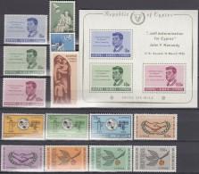 ZYPERN  Jahrgang 1965, Postfrisch **,  Komplett 247-260, Mit J.F. Kennedy