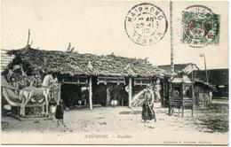 INDOCHINE CARTE POSTALE AVEC AFFRANCHISSEMENT TIMBRE DE CANTON + OBLITERATION HAIPHONG 22-11-22 TONKIN - Indochine (1889-1945)