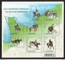 2014 - Bloc Feuillet F4890 JEUX EQUESTRES Mondiaux  N° 4890 NEUF** LUXE MNH