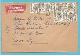 1644 (x6) Op Brief Per EXPRES Spoorwegstempel ANS