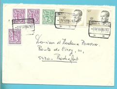 1850+1960+2022 Op Brief Per EXPRES Spoorwegstempel GRAIDE