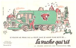 """Fr VR )  Buvard  """"Fromage La Vache Qui RIT"""" """"Série Les Métiers 2 """"   (poids De L'Ex..p Moins De 20 Gr) - Dairy"""