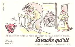 """Fr VR )  Buvard  """"Fromage La Vache Qui RIT"""" """"Série Les Métiers 3 """"   (poids De L'Ex..p Moins De 20 Gr) - Dairy"""