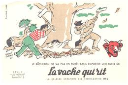 """Fr VR )  Buvard  """"Fromage La Vache Qui RIT"""" """"Série Les Métiers 5 """"   (poids De L'Ex..p Moins De 20 Gr) - Dairy"""