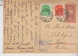 Magyarposta Ungheria Interi Postali 1942 Budapest Per Roma Verifica Per Censura   Gg - Interi Postali