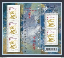 2012 - Bloc Feuillet F4631 Année Du DRAGON N° 4631 NEUF** LUXE MNH