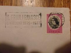 Italia REPUBBLICA  BUSTA  ANNULLO A TARGHETTA  IL FRIULI RINASCE 1977 - 2001-10: Marcophilia
