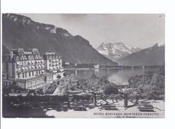 Montreux Territet , Hotel Bonivard - Werbekarte - VD Vaud