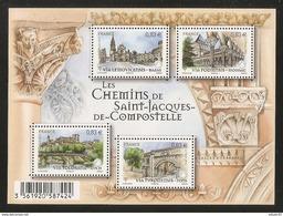 2014 - Bloc Feuillet F4838 Les Chemins De St Jacques De Compostelle  N° 4838 NEUF** LUXE MNH