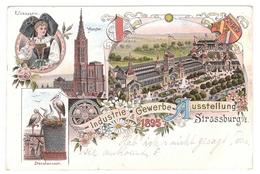 Belle CPA Lithographie - Exposition Commerciale De L'industrie - Industrie Gewerbe Ausstellung - 1895