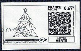 France Vignette Oblitérée Used Mon Timbre En Ligne Sapin De Noël