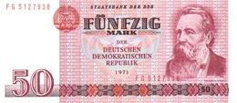 GERMAN DEMOCRATIC REPUBLIC 50 MARK 1971 (1986) P-30b UNC NARROW S/N [DDR304b] - [ 6] 1949-1990: DDR - Duitse Dem. Rep.