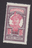 Martinique, Scott #110, Mint Hinged, Scenes Of Martinique Surcharged, Issued 1922 - Martinique (1886-1947)