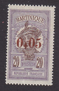 Martinique, Scott #115, Mint Hinged, Scenes Of Martinique Surcharged, Issued 1924 - Martinique (1886-1947)