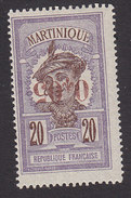 Martinique, Scott #115a, Mint Hinged, Scenes Of Martinique Surcharged, Issued 1924 - Martinique (1886-1947)