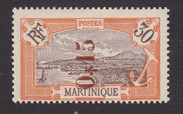 Martinique, Scott #116, Mint Hinged, Scenes Of Martinique Surcharged, Issued 1924 - Martinique (1886-1947)