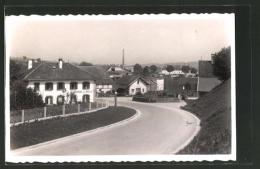 CPA Romont, Vue De La Rue Avec Auberge De L´Aigle - FR Fribourg