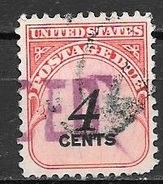 1959 4 Cents Postage Due, Used - Postage Due