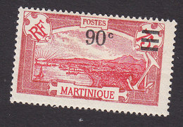 Martinique, Scott #123, Mint Hinged, Scenes Of Martinique Surcharged, Issued 1924 - Martinique (1886-1947)