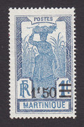 Martinique, Scott #125, Mint Hinged, Scenes Of Martinique Surcharged, Issued 1924 - Martinique (1886-1947)