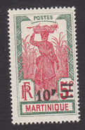 Martinique, Scott #127, Mint Hinged, Scenes Of Martinique Surcharged, Issued 1924 - Martinique (1886-1947)