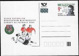 CZECH REPUBLIC  2004 Football Portugal Euro 2004, 1 Stationaire Carte Postal Neuf - Fußball-Europameisterschaft (UEFA)