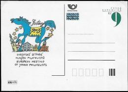 CZECH REPUBLIC 2003 Rencontre Des Jeunes Philatélistes Européens , 1 Stationaire Carte Postal Neuf - Tchéquie
