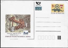CZECH REPUBLIC 2003 Château Mikulov Caves Pressoir à Vin , 1 Stationaire Carte Postal Neuf - Tchéquie