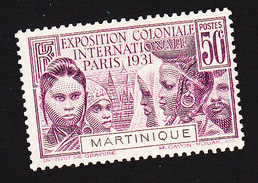 Martinique, Scott #130, Mint Hinged, Colonial Exposition, Issued 1931 - Martinique (1886-1947)