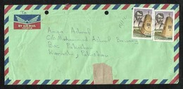 Zambia SURCHARGE Value Stamps On Air Mail Postal Used Cover - Zambia (1965-...)