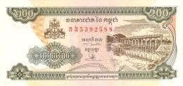 CAMBODIA 200 RIELS 1998 P-42b UNC  [KH405b] - Cambodia