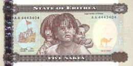 ERITREA 5 NAKFA 1997 P-2 UNC [ ER102a ] - Eritrea