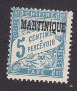 Martinique, Scott #J15, Mint Hinged, French Postage Due Overprinted, Issued 1927 - Postage Due