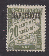 Martinique, Scott #J17, Mint Hinged, French Postage Due Overprinted, Issued 1927 - Postage Due