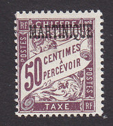 Martinique, Scott #J21, Mint Hinged, French Postage Due Overprinted, Issued 1927 - Postage Due