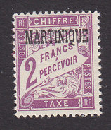 Martinique, Scott #J24, Mint Hinged, French Postage Due Overprinted, Issued 1927 - Postage Due