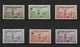 REUNION 1943 BATEAUX  YVERT  N°A18/23 NEUF MH* - Isola Di Rèunion (1852-1975)