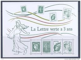 """F 4908 Bloc Feuillet """"la Lettre Verte A 3 Ans"""" -  Faciale 2x0,61 € + 2xlettre Verte"""