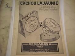 ANCIENNE PUBLICITE CACHOU LAJAUNIE TOULOUSE 1940 - Posters