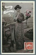 CPA - N° 138 PERFORE BP Sur Carte Postale : Jeune Femme - Perfin