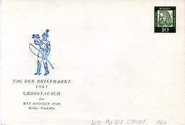 """Berlin Privat GZS-Umschlag PU 025 C2/001 WSt.10(Pf) Olivgrün,""""Tag Der Briefmarke 1961"""" Ungebraucht - Berlin (West)"""