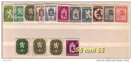 1945 LION And A State Coat Of Arms  11v.-MNH(**)+ 4 Stamps Variety (**)  Bulgaria / Bulgarie