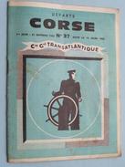 Cie Generale TRANSATLANTIQUE French Line - Departs CORSE N° 37 - 1965 ( Mod. 5620 ) Anno 19?? ( Zie Foto Details ) !! - Barcos