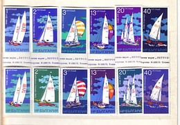 BULGARIA / Bulgarie 1973 AQUATIC SPORTS - Sailing   6v. Perf.+ 6v.  Imperf.- MNH