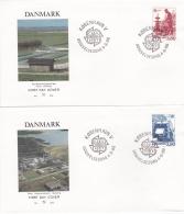 Denmark 2 Covers 1986 FDC Europa CEPT (T17-12)