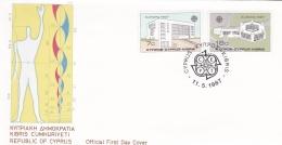 Cyprus 1987 FDC Europa CEPT (T17-12)