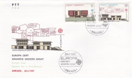 Turkey 1987 FDC Europa CEPT (T17-12)